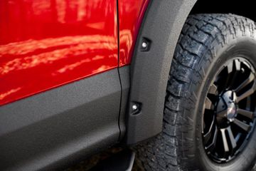 A partial exterior spray (rocker panels, hoods, and more)